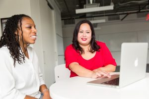A one-on-one mentoring relationship between two women